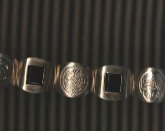 Sale Vintage mexico wide Alpaca mexico bracelet