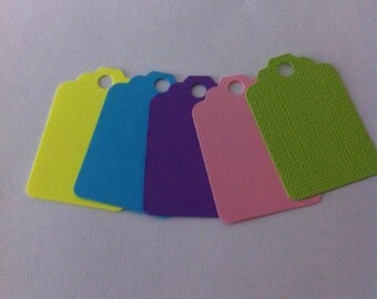 50 EASTER colors Tags , Favor Tags, Treat Bag Tags, Product Tags, Hang Tags, Wish Tree Tags, birthday tags ,
