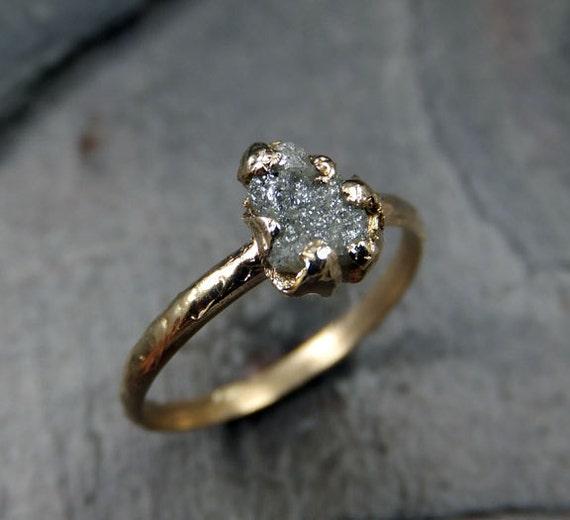 Raw Rough UnCut Diamond Engagement Ring Rough Diamond