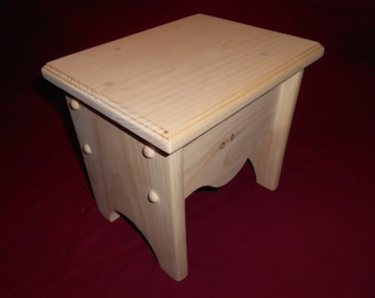 Kids Step Stool. Comes Unfinished or Personalized.... Children Step Stool (bench)