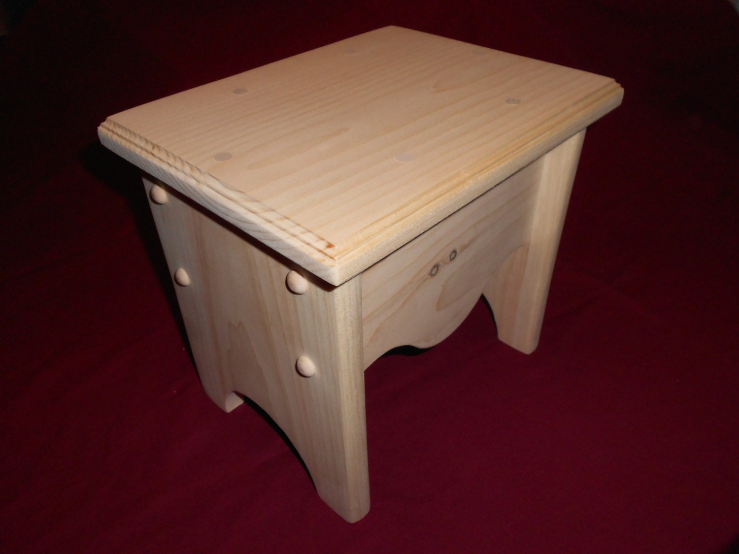 Kids Step Stool Comes Unfinished Or By Beckwoodworking On