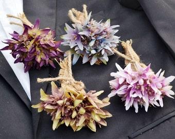 wedding boutonniere artificia flower vintage style