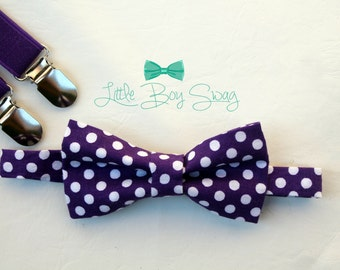 Baby Boy Bow Tie, Ring Bearer Bow Tie, Boys Wedding Bow Tie, Boys Suspenders, Boys Gift, Boys Bow Tie, Cake Smash Outfit, Wedding Gift, Boys
