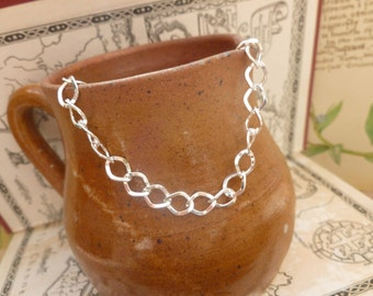 1x Bracelet Chain, Silver Colour Chain Findings For Jewelry Making P67