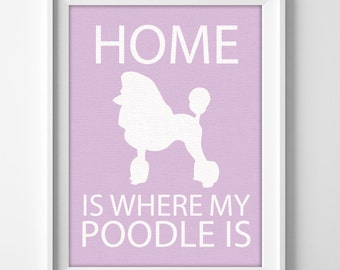 Poodle Art / Poodle Gifts / Dog Decor/  Gifts for Dog Owners / Personalized Dog Gifts / Personalized Pet Gift / New Puppy Gifts