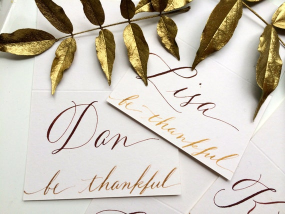 Thanksgiving Place Cards - Calligraphy