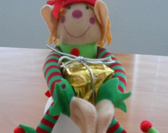 Christmas Snowball Elf,Christmas Present Elf, Elf Decor, Christmas Decor, Elf