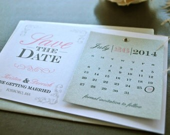 Silver and Pink Glitz Glam Save the Date