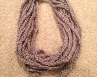 Pearl Gray Chain Scarf