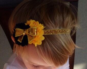 New Orleans Saints Headband, NFL, Saints Headband, Infant Headband ,Toddler Headband-Photo Prop