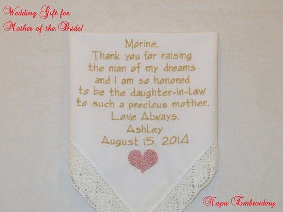 Wedding Gift For Mother In Law: Gifts For Mother In Law Gift Personalized By NapaEmbroidery