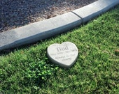 "Personalized Engraved Pet Memorial 9"" Heart Always in Our Hearts"