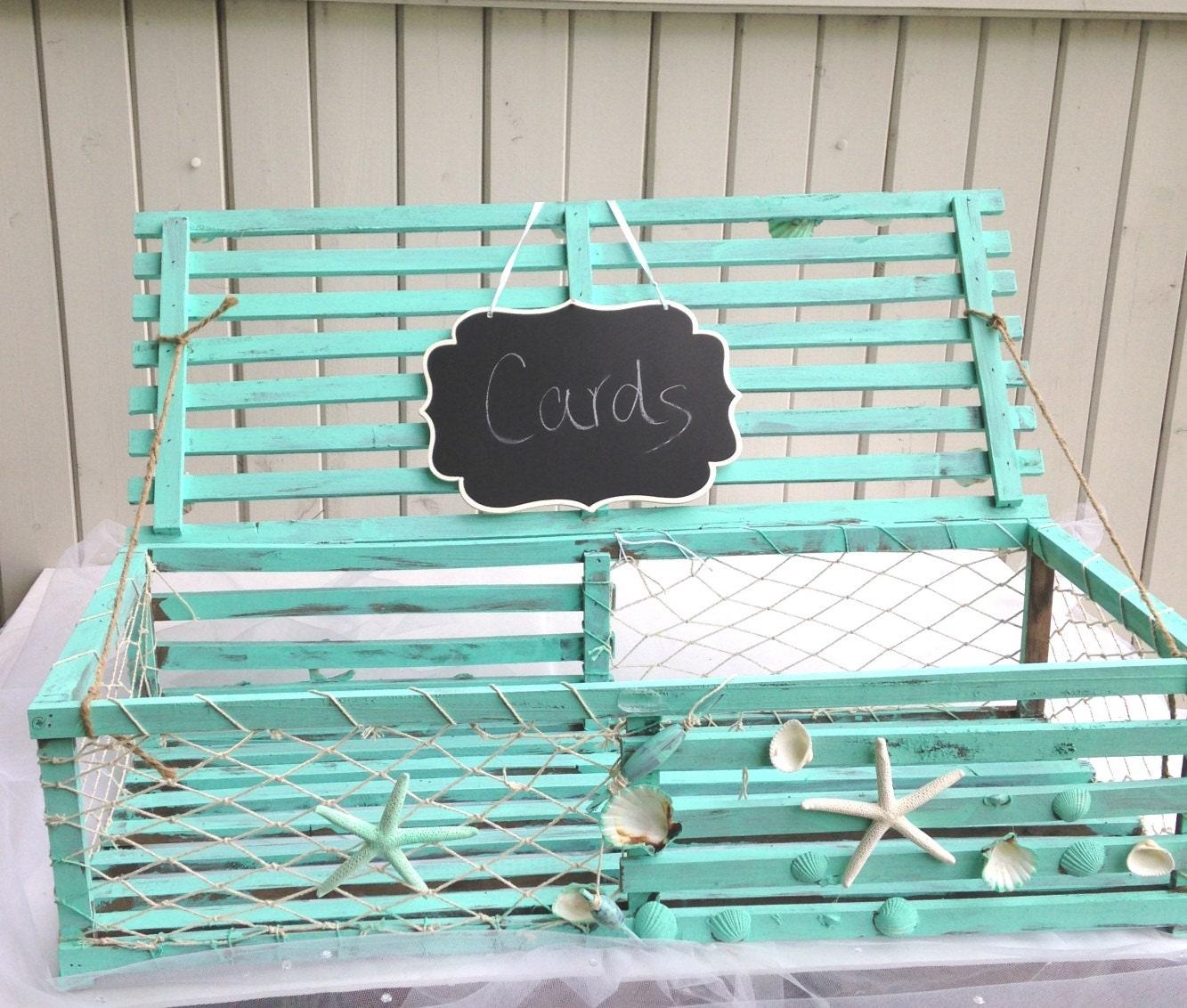 Lobster trap table decoration card holder or favor basket - Trap decor ...