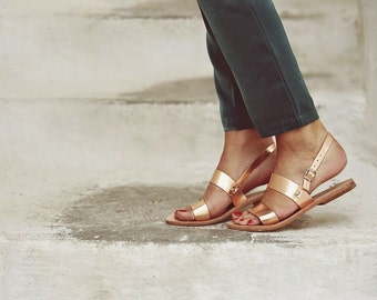 Leather Greek Sandals, Leather sandals, Women's Plato slingback sandals. CUSTOM COLOURS
