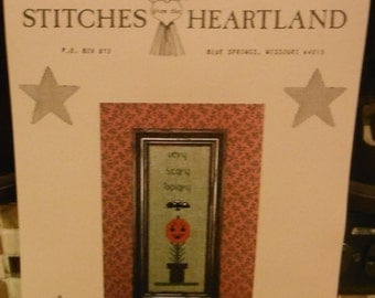 VERY SCARY TOPIARY Cross Stitch Leaflet St263 Stitches From The Heartland 1999