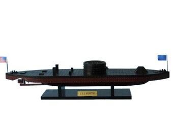 "Model Boat USS Monitor 21"" / Civil War Model Ships / Model Boats / Replica Model Ships / Civil War Ships"