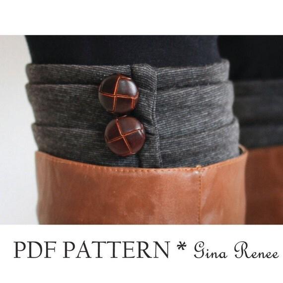 Boot Cuff Sewing Pattern. Womens Boot sock PDF Sewing Pattern