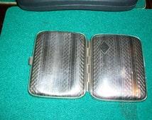 SALE, Antique, Vintage, c. 1920s Cigarette Case; Collectable; Silver Tone; card case