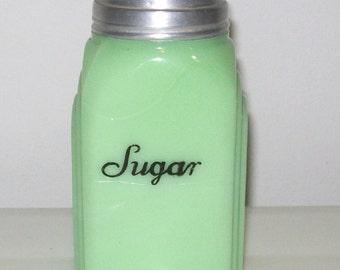 McKee Roman Arch Jadite Jadeite Sugar Shaker