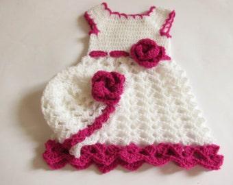 Crochet PATTERN Baby Dress and Hat , Baby Dress Hat pattern,  Handmade Baby Dress, Handmade Baby Dress Pattern