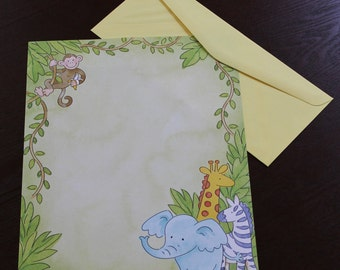 Decorative stationary, 15 sheets and envelopes