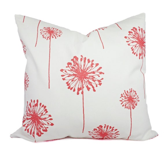 Coral Sofa Pillow: Coral Couch Pillow Covers Dandelion Coral By CastawayCoveDecor