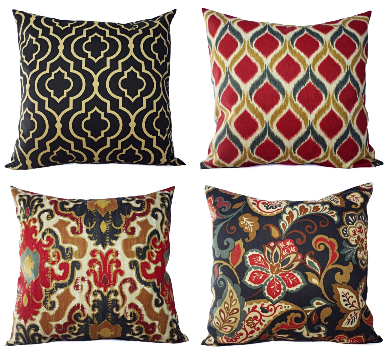Decorative Pillows Maroon : Decorative Pillow Cover in Navy and Maroon by CastawayCoveDecor