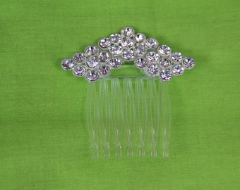 """Art Deco Style Comb with Crystal Detail and Ergonomic Comb """"Blair"""""""