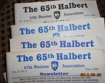 Military History, Military Ephemera, WWII History, 65 Halbert Newsletter, Alumni Newsletter, ARMY, Soldier History, Old Military Pictures