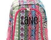 Fullsize Patchword Pink Trim Girls Backpack - Cheer Bag - Free Embroidery