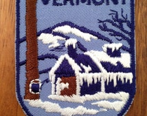 Vermont Vintage Travel Patch by Voyager