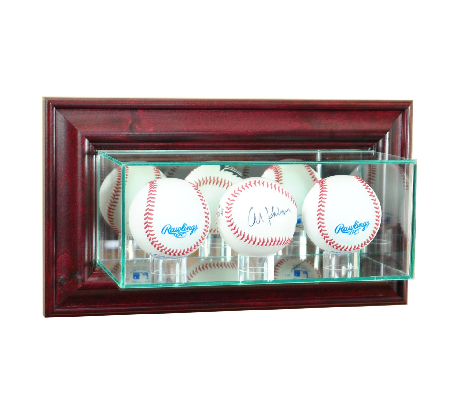 wall mounted triple baseball display case by perfectcases on etsy. Black Bedroom Furniture Sets. Home Design Ideas