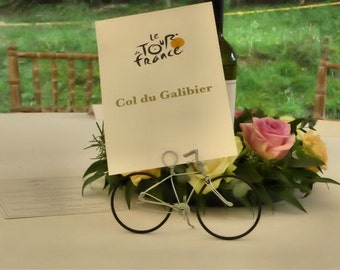 Wedding Wire Bicycle table number holders