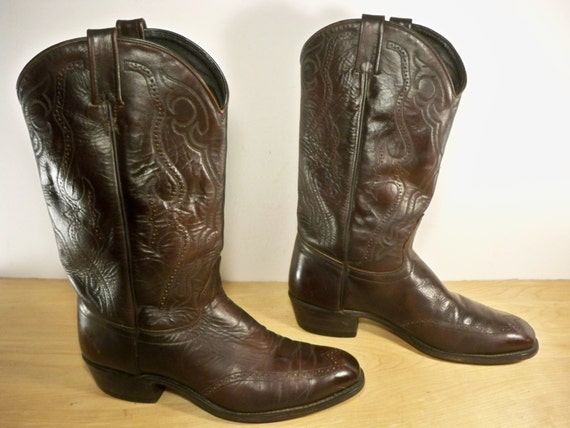 vintage j chisholm brown leather cowboy s rancher by