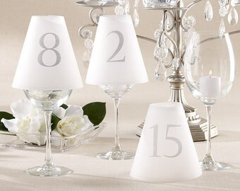 Wedding Table Number Luminaries - Elegant Wedding Table Numbers - Weddings, Parties by Shop Simply Perfect