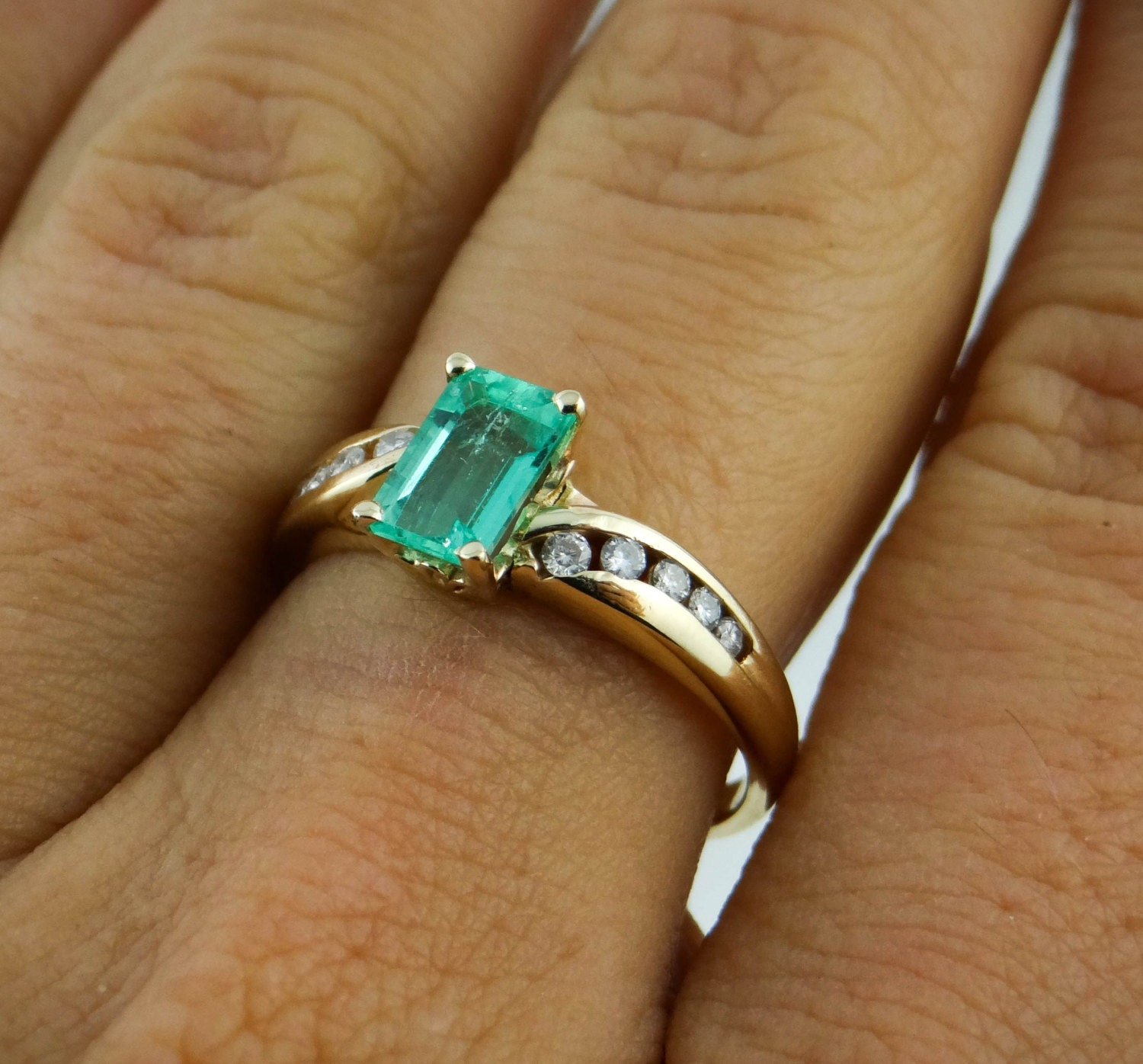 emerald and ring for engagement by