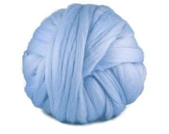 Superfine merino wool roving 19 microns,  ,Color: sunrise
