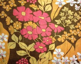 Swedish vintage fabric from duvet cover.Mod floral scandinavian design.