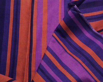 60s mid century striped vintage fabric. Made in Sweden. Lovely cotton satin. Great condition