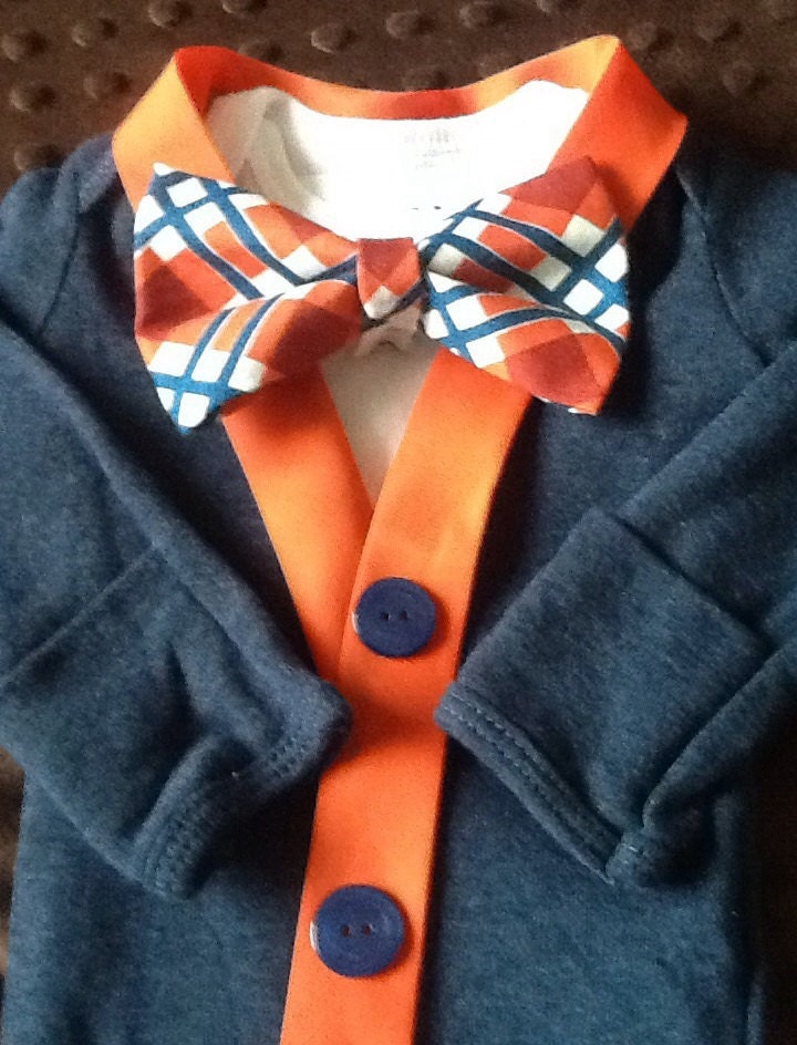Newborn Cardigan With Bow Tie - Cashmere Sweater England