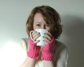 Custom order for Heather - White Crochet Fingerless Gloves Hand warmers