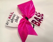 All star style pink, purple, lime green, orange base holographic cheer bow fabric choose green red blue gold black purple pink etc color