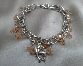 Dancing Dolphins Bracelet: Vintage Jewelry, Vintage Bracelet
