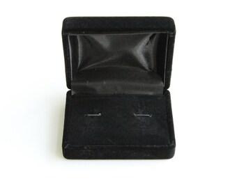 Cufflink Case Velvet Paper Storage Box for One Pair Cuff Link Men Jewelry Display
