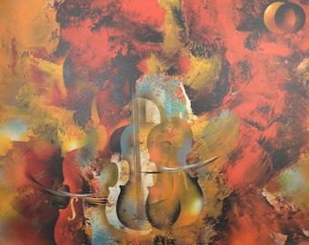 "Leonardo Nierman "" Capriccio "" Original Lithograph S/N Art"