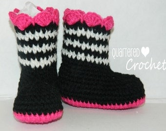 Adorable Zebra Chic Baby Girl Boots