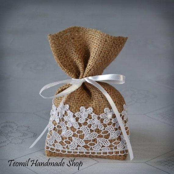 Wedding Gift Bags Burlap : Candy Favor Bag, Wedding Burlap Gift Bag, Bridal ShowerSET OF 25