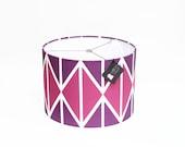 Modern Lamp Shade - Midnight Berry - Purple, White, Magenta, Fuchsia - Choose Youe Size