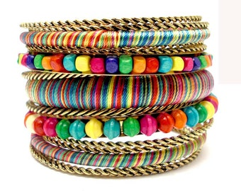 multi colored bangles