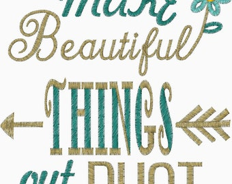 You Make Beautiful Things out of Dust Christian subway Art Design